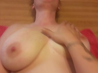 amateur milf slut wife with huge bouncing tits. orgasm denial for her