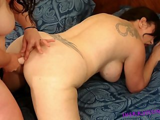 Lesbian Strap On Ass Fucking Lust with Sherry Stunns & Vicki Verona