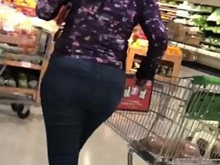 Phat Ass in the Meat Department (pt. 2) Candid!!!