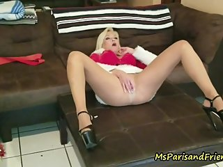 Decorating for the Holidays makes Her PUSSY Wet