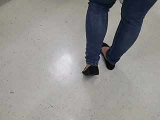 Nylons and Flats Walmart Checkout Line