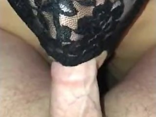 Wife sucks cock and spreads cum on tits to celebrate 5k views POV