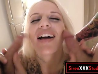 Phat Ass Blonde Ass Fucked in Threeway