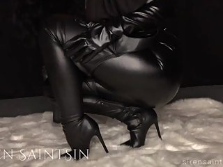 Leather Boot Worship and JOI with Hot Femdom MILF