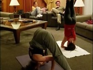 Yoga Headstand at a National Spanking Party