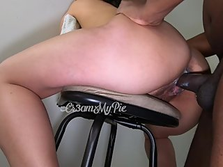 Fun time with my bar stool. Look at my waterfall creampie! It's so thick!