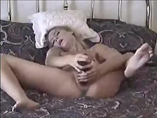 Very hot MILF masturbation with dildo