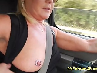 Revving, Driving Fast and Masturbating with Ms Paris Rose