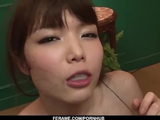 Megumi Shino threesome blowjob and strong facials - More at Slurpjp com