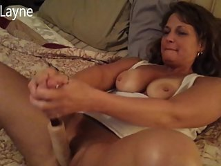 I caught my Hot Mom Fucking her Pussy Hard With Dildo! She let me watch!