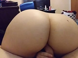Bouncing ass on dick