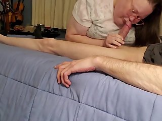 Naughty neighbor says eat daddy's cum