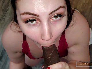 POV sloppy toppy deepthroat