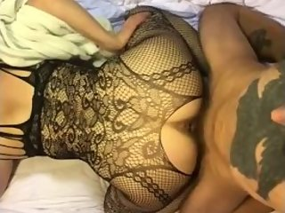 Sexy hotwife fucks her bull and has him film it... he cums and keeps going
