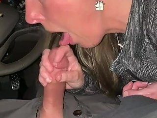 Brick sucks Dick front seat Cock Worship!