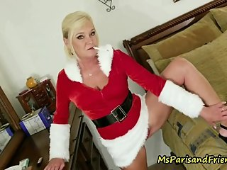 Ms Paris Rose is Smoking Hot Santa's Helper