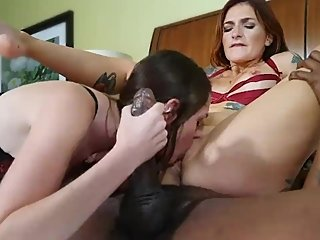 2 Snowbunnies for One Big Black Cock