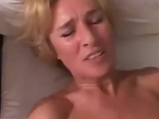 Cougar Blonde Woman Loves Young Guy Voyeur