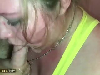 Janice's Deep Blowjob and cum to her mouth