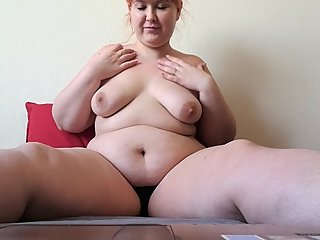BBW IRINA MASTURBATING WITH A STRANGER ON SKYPE