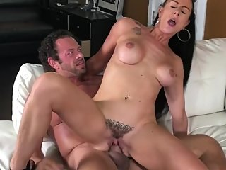 Texas Patti reverse cowgirl on a film set
