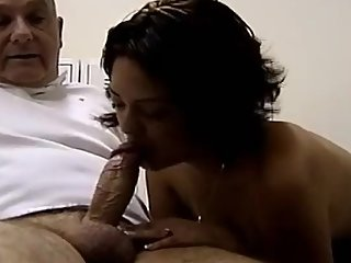 Amateur Massage Turns Into Blowjob With Bald Grandpa