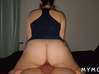 Thick Latina MILF rides her mans dick until he cums (no sound)