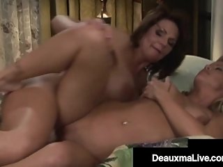 Southern Cougar Deauxma StrapOn Fucks Blonde Milf Girlfriend