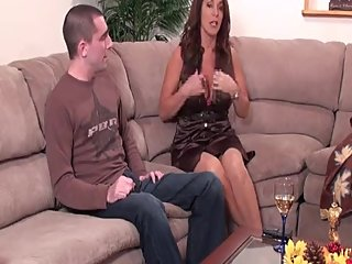 Rachel Steele MILF849 - Desperately horny MILF fucks son friend after work