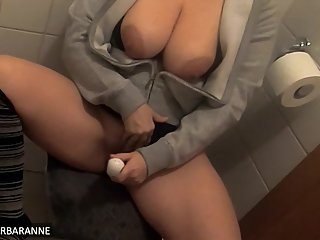 Hidden cam in my Airbnb apartment caught girl masturbating in the toilet!!