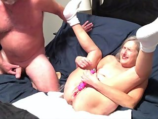 Hot Milf Tries Out Her New 12 Inch Dildo