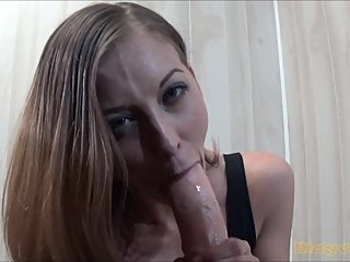 Hot Secretary Sloppy Office Blowjob
