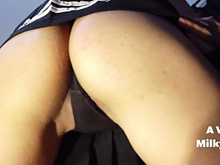 Watch how I finger my pussy from beneath my skirt