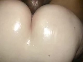 Fat White Cheeks Bouncing on Dick
