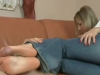 Couch Footjob