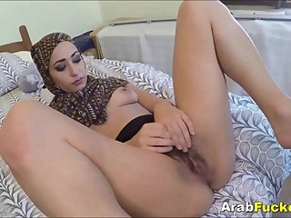 Middle Eastern Milf Desperate For Money Fucks Huge White Cock