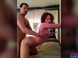 Hot MILF Blowjob Dick Neighbor and Rough Sex after Watching Porn