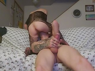 Sexy wife sits on her man's face
