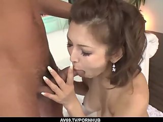 Mai Kuroki gets a lot of dick in her tiny Asian holes - More at 69avs com