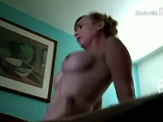 Amazing riding skills by my blonde milf