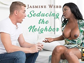 Ebony British MILF Jasmine Webb Seduces Neighbor!