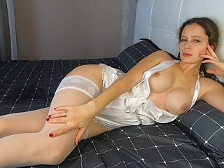 Lonely MILF Bride Masturbates Herself With Fingers - CatherineRain