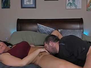 Cute Asian Housewife's pussy fucked by father in law pt1
