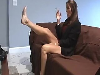 Rachel Steele Smoking31 - Son has smoking fetish strokes for his stepmom