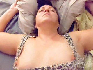 POV Chubby PAWG MILF with nice ass fucked hard, she orgasms with cumshot