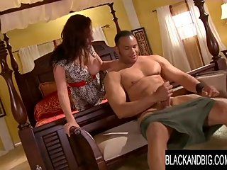 Black and Big - Natural Goddess Gianna Michaels Takes a BBC to Its Limit