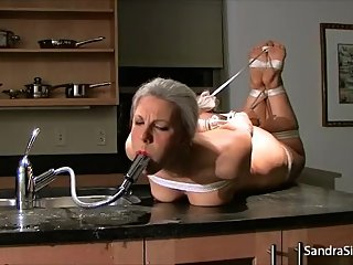1124 Water Gagged in Naked Hogtie!