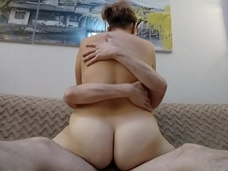 Blonde MILF get fast orgasm by ride dick, real amateurs BBW homemade sex