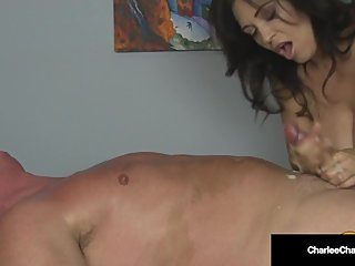 Big Titty Milf Masseuse Charlee Chase Milks Cock 2 Times!