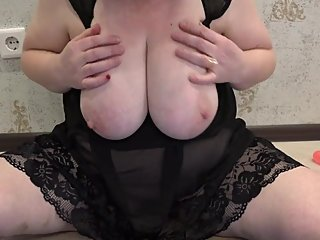 Busty Married BBW Masturbates With A Stranger On Skype